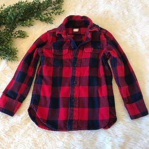 Gap Kids Plaid Flannel Shirt Toddler Boy Size 4-5